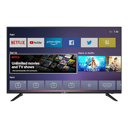 SmartTech SMT43F30UV2M1B1, Smart Netflix TV, 4K Ultra HD LED TV, 109 cm