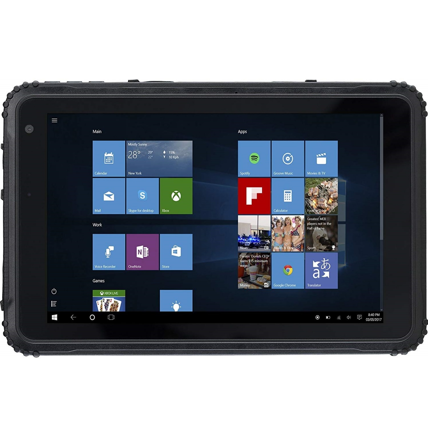 "Fotografie Tableta CAT T20 Rugged, Quad-Core, 8"", 2GB RAM, 64GB, 4G, Black"