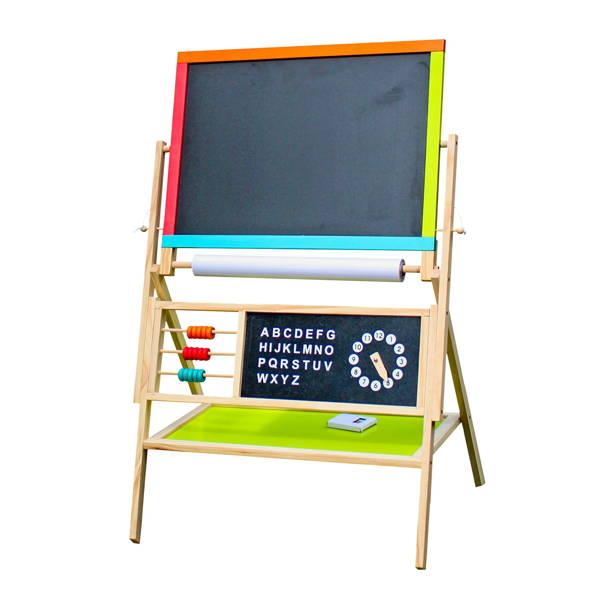 Fotografie Tabla Multifunctionala Mappy pentru copii, cu 2 fete, numaratoare, ceas si litere magnetice