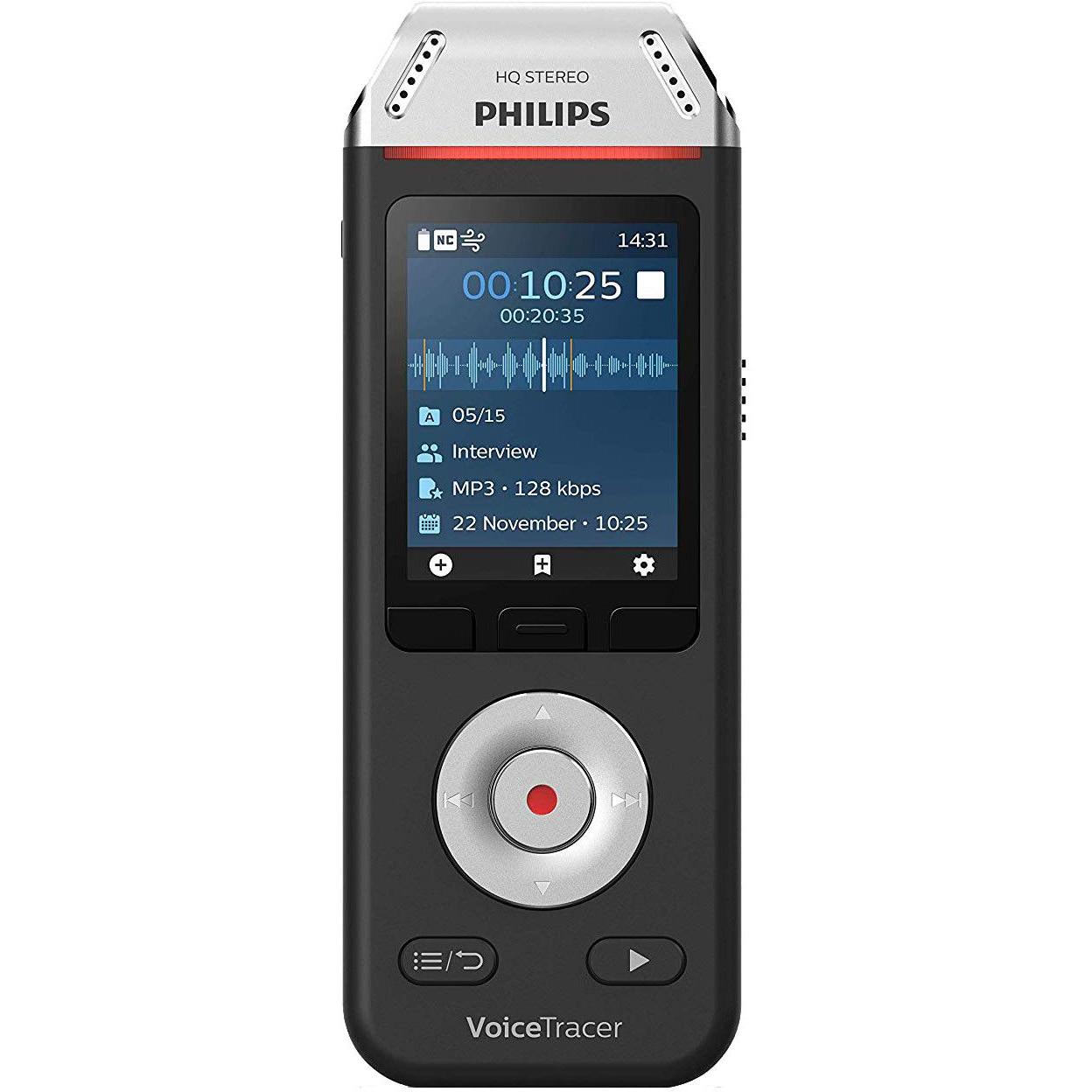 Fotografie Reportofon Philips DVT2110, 8GB, Negru/Crom