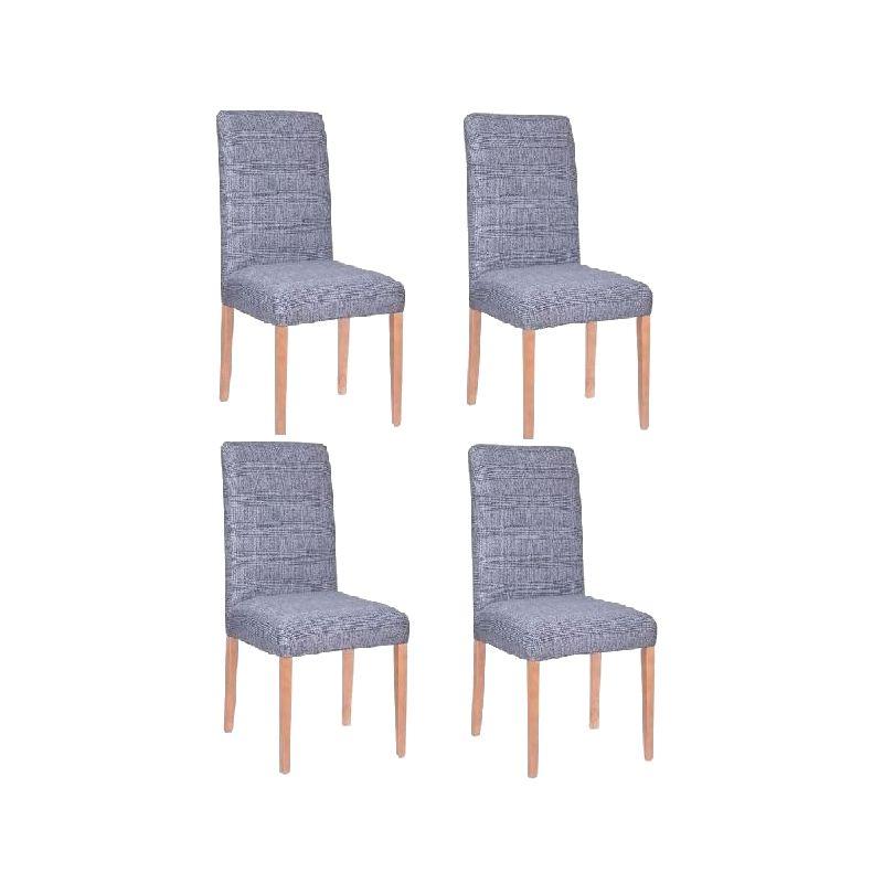 Springos univerzális székhuzat készlet, 4 darab, nyújtható, spandex anyag, kék szín eMAG.hu