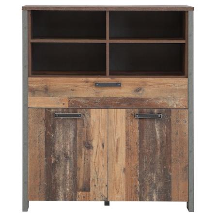 Kring Retro szekrény, 2 ajtó és 1 fiók, 107x 130 x 41 cm, Vintage