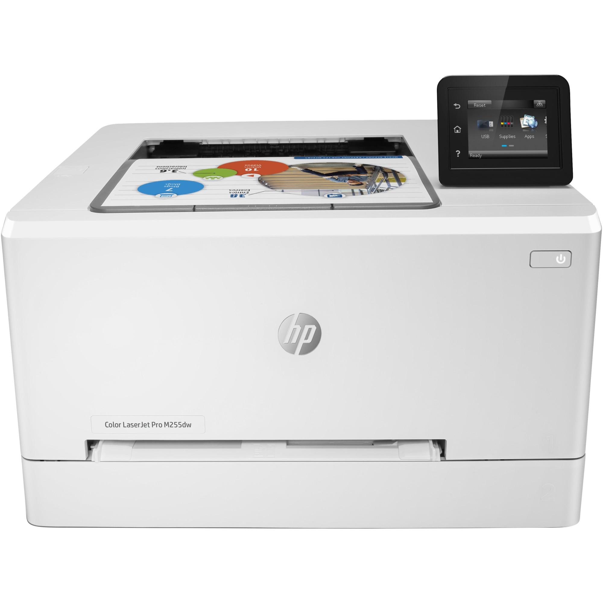 Fotografie Imprimanta laser color HP LaserJet Pro M255dw, Retea, Wireless, Duplex, A4