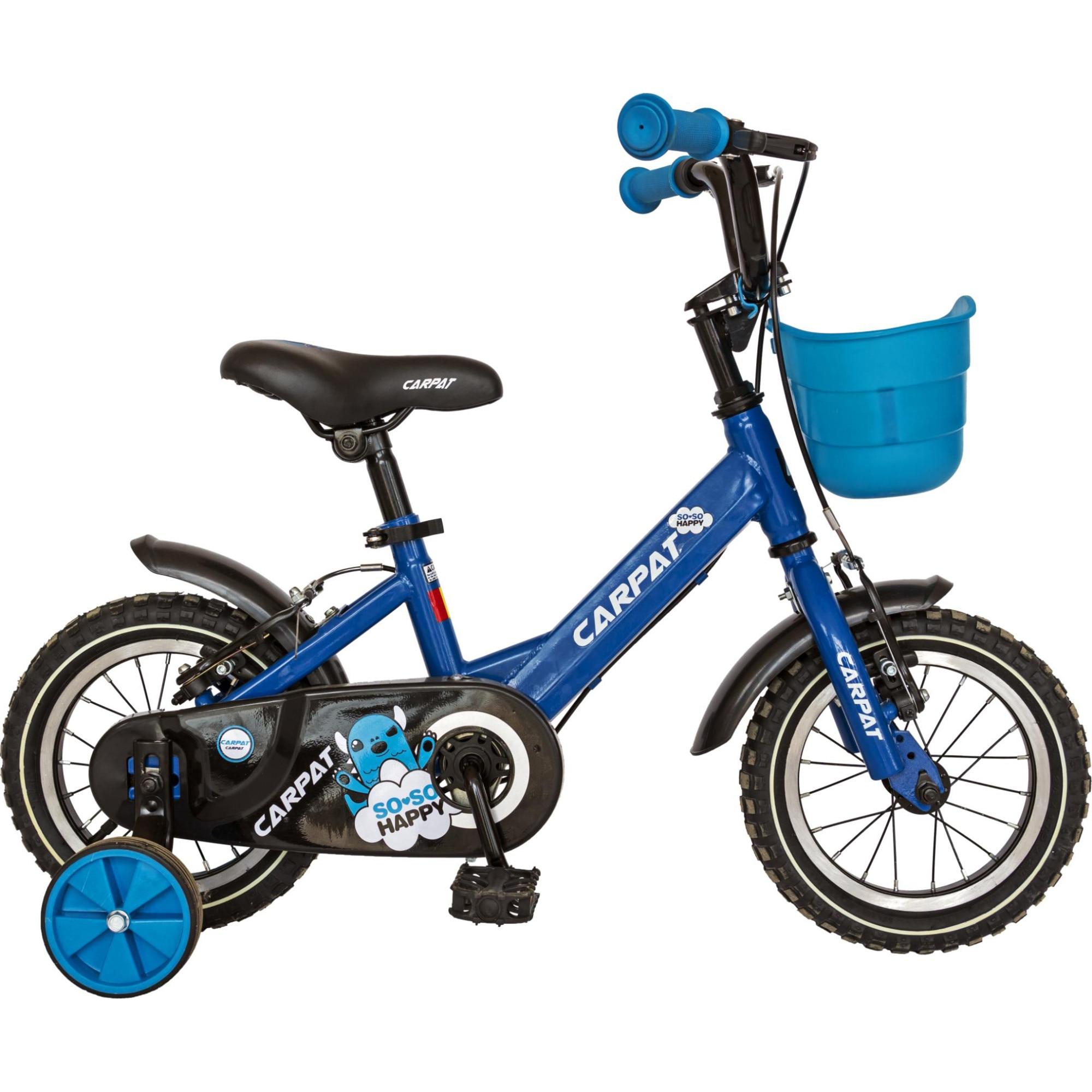 """Fotografie Bicicleta 12"""" Carpat C1201C pentru copii, Albastru"""