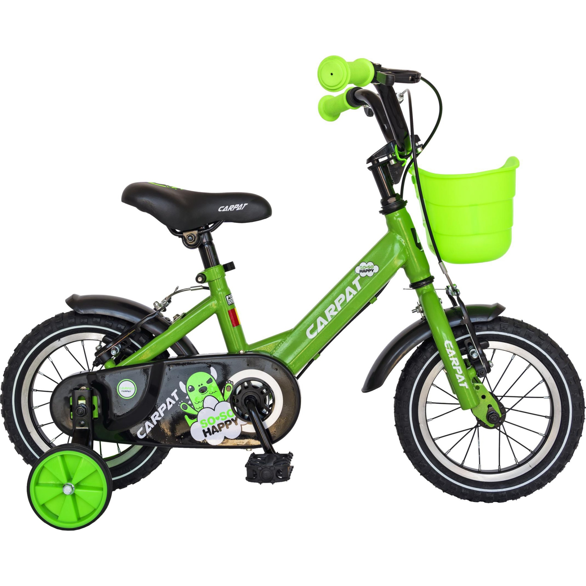 """Fotografie Bicicleta 12"""" Carpat C1201C pentru copii, Verde"""