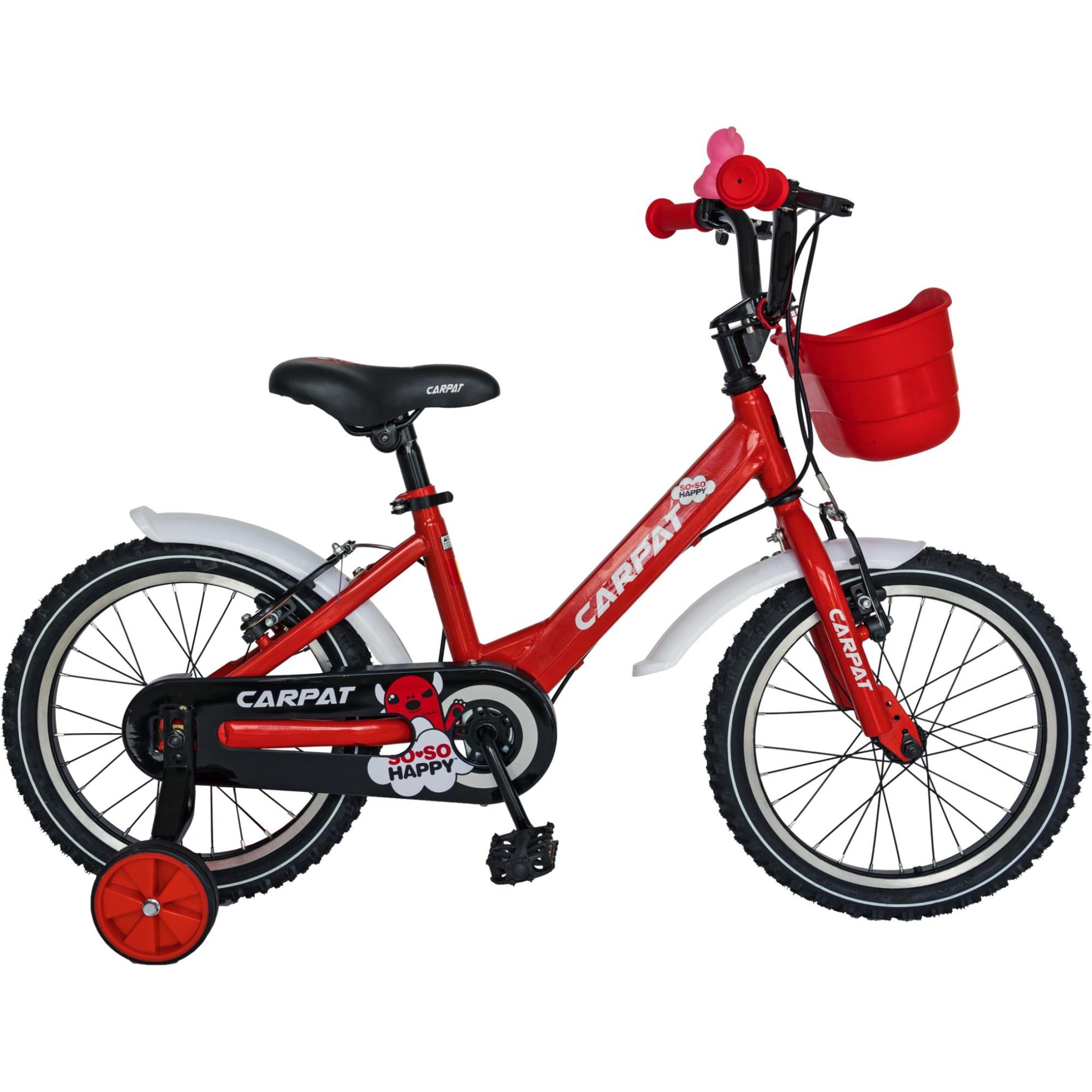"""Fotografie Bicicleta 14"""" Carpat C1402C pentru copii, Rosu"""