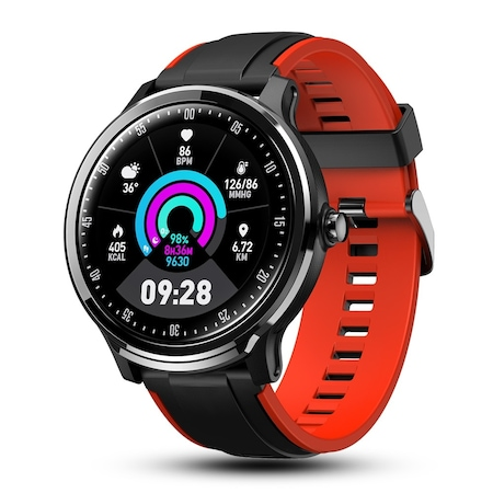 Мъжки, спортен смарт часовник Smart Wear NS88, Пулс, Калории, Кръвно налягане, Bluetooth, Нотификации, Черен / Червен