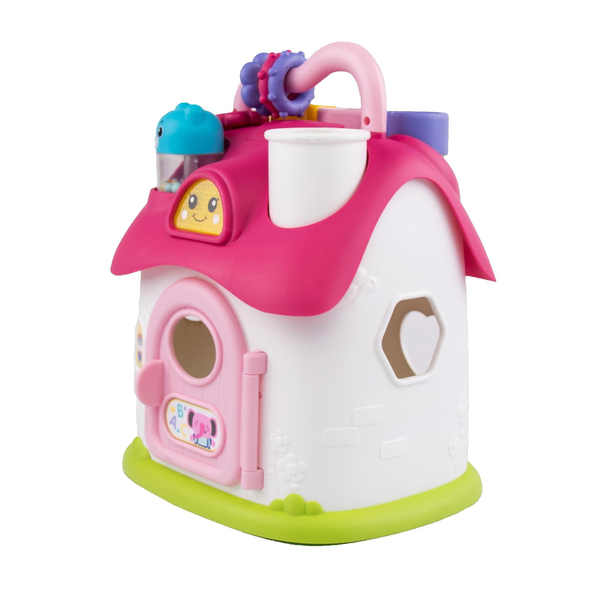 Fotografie Jucarie interactiva pentru bebelusi M-Toys Play House, cu lumini si sunete, roz