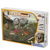 M-Toys Dino Vonat készlet, hangokkal és fényekkel, 45 db