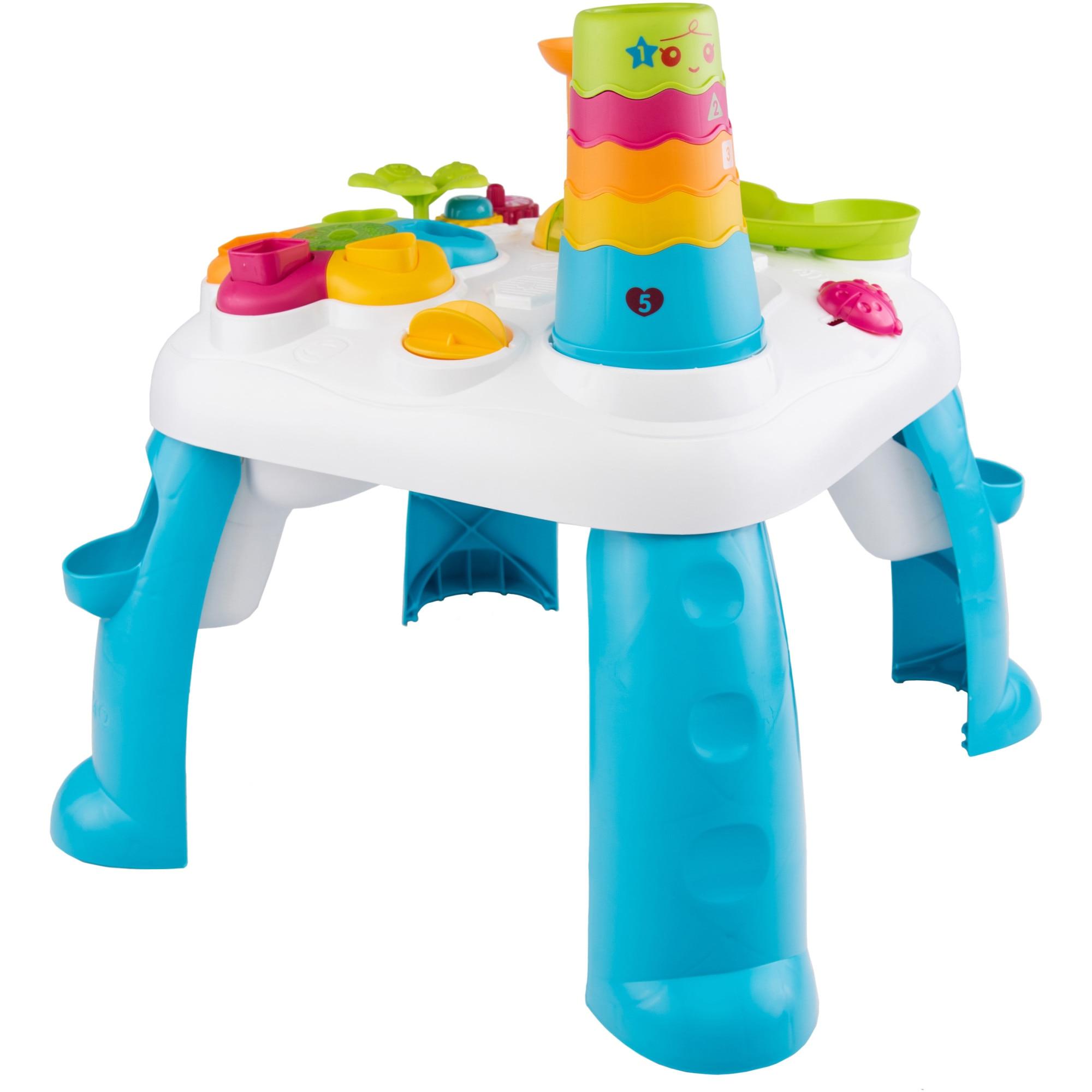 Fotografie Masuta de joaca M-Toys cu lumini si sunete, turcoaz