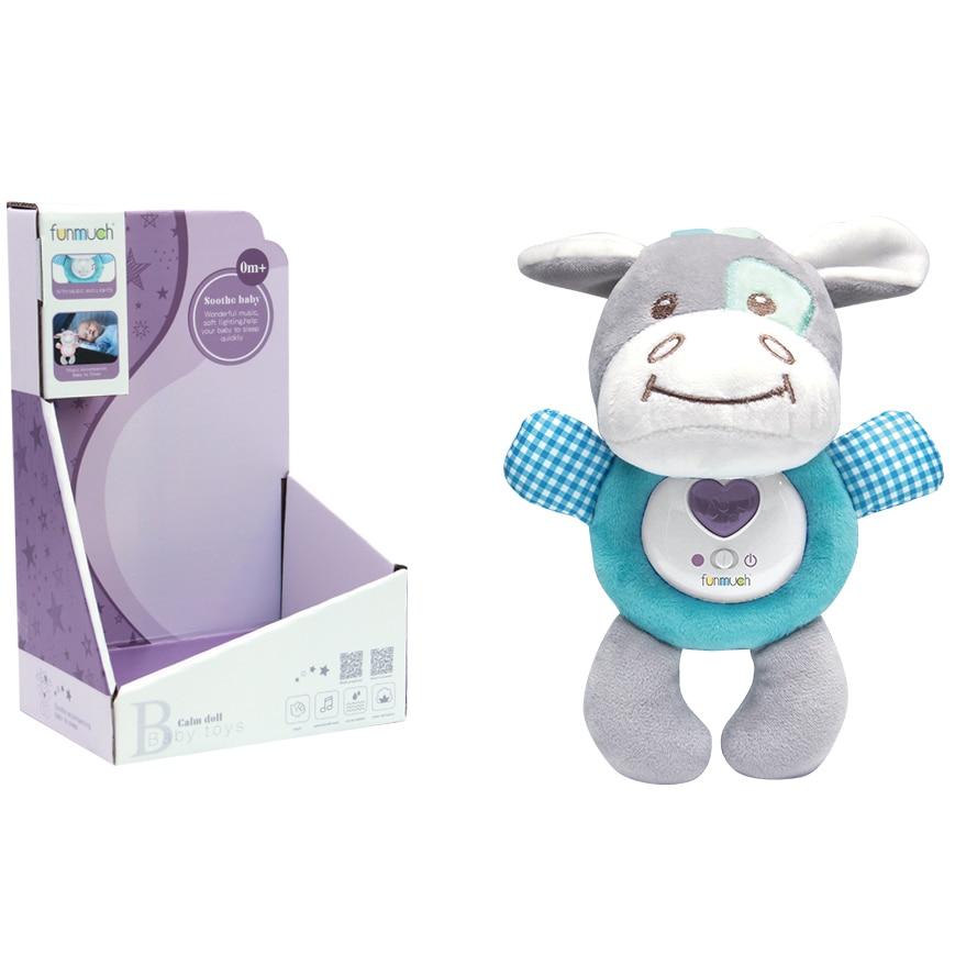 Fotografie Jucarie interactiva M-Toys - Hipopotam, cu lumini si sunete, gri/turcoaz