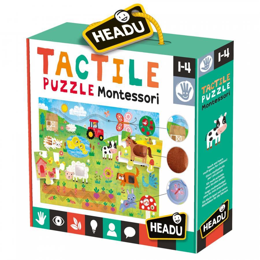 Fotografie Puzzle Headu Montessori - Tactil puzzle, 21 piese