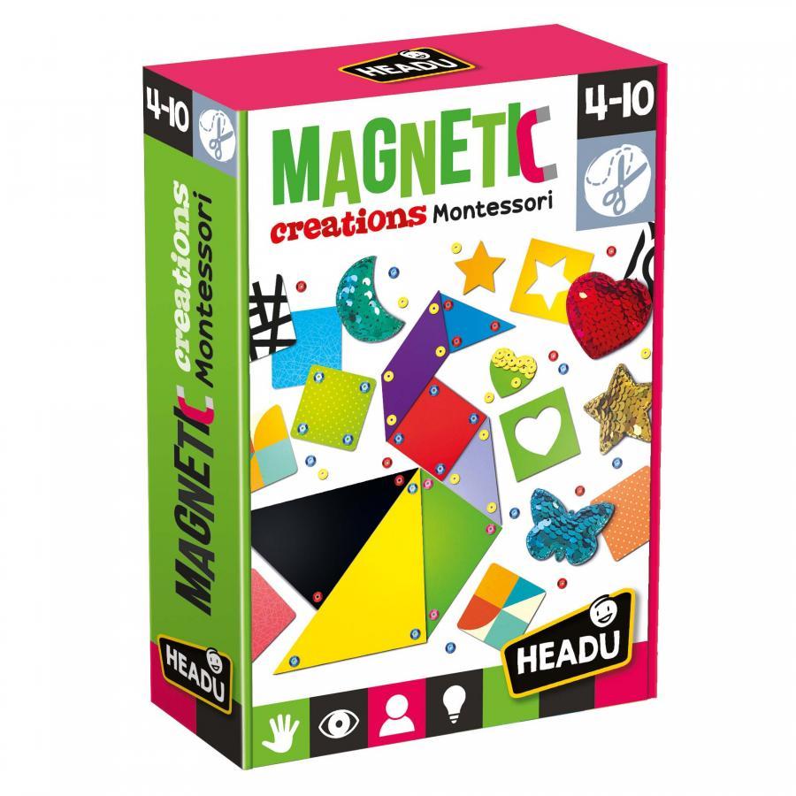 Fotografie Joc educativ Headu Montessori - Creatii magnetice