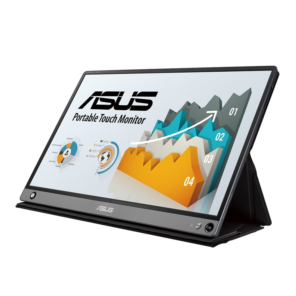 """Fotografie Monitor IPS ASUS ZenScreen Touch 15.6"""", IPS, FHD, 10-point Touch, Built-in Battery, USB Type-C, Micro-HDMI, MB16AMT"""