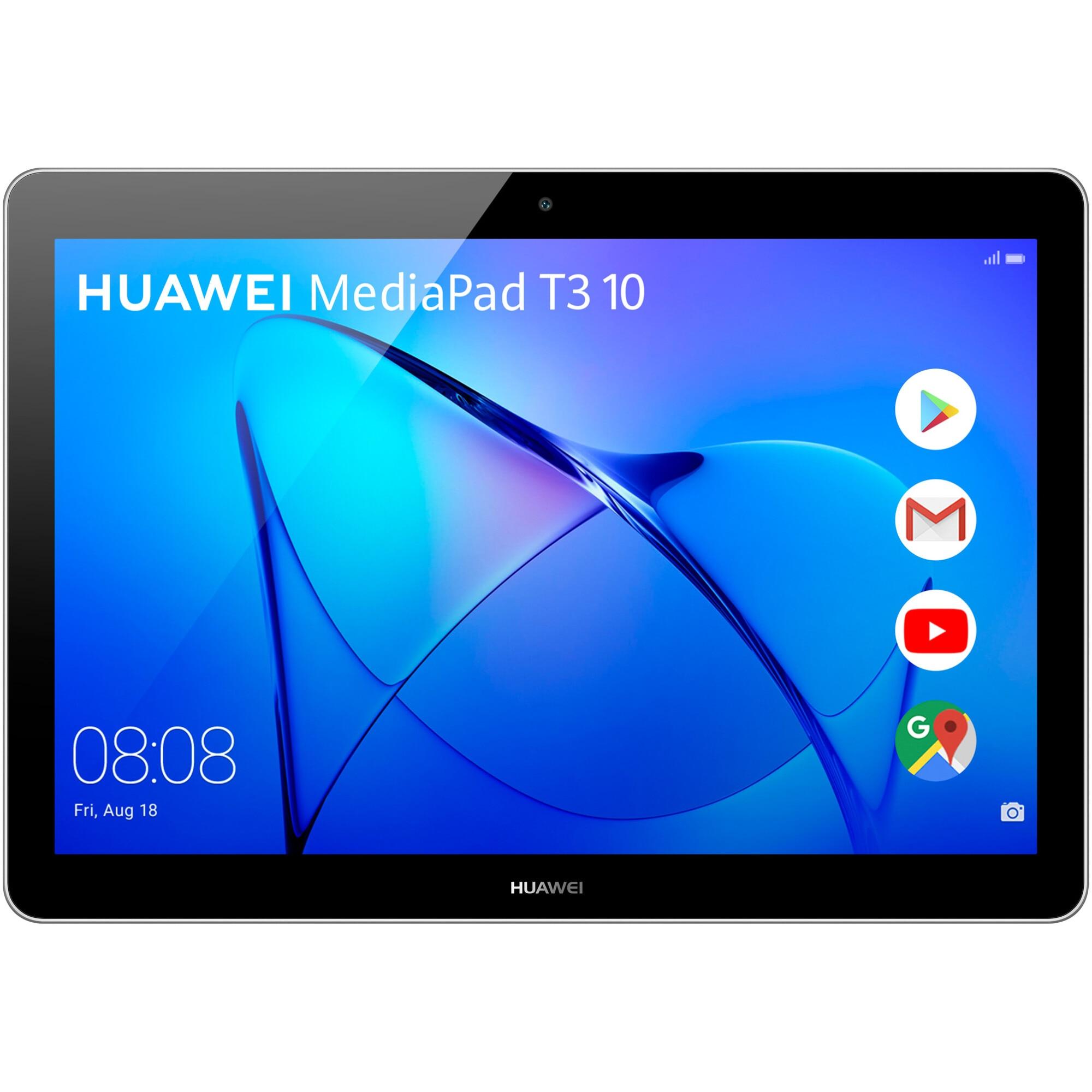 "Fotografie Tableta Huawei MediaPad T3 10, Quad Core, 9.6"", 2GB RAM, 32GB, Wi-Fi, Space Gray"