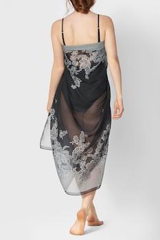 Triumph, Charm Elegance virágos pareo kendő, One Size, Fekete/Fehér