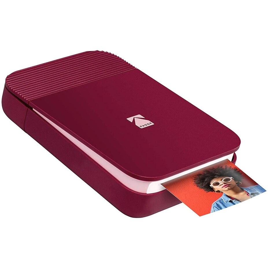 Fotografie Imprimanta foto portabila Kodak Smile, Bluetooth, Rosu, Imprimare Termica