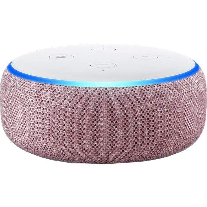Fotografie Boxa Amazon Echo Dot 3, Alexa, Rosu