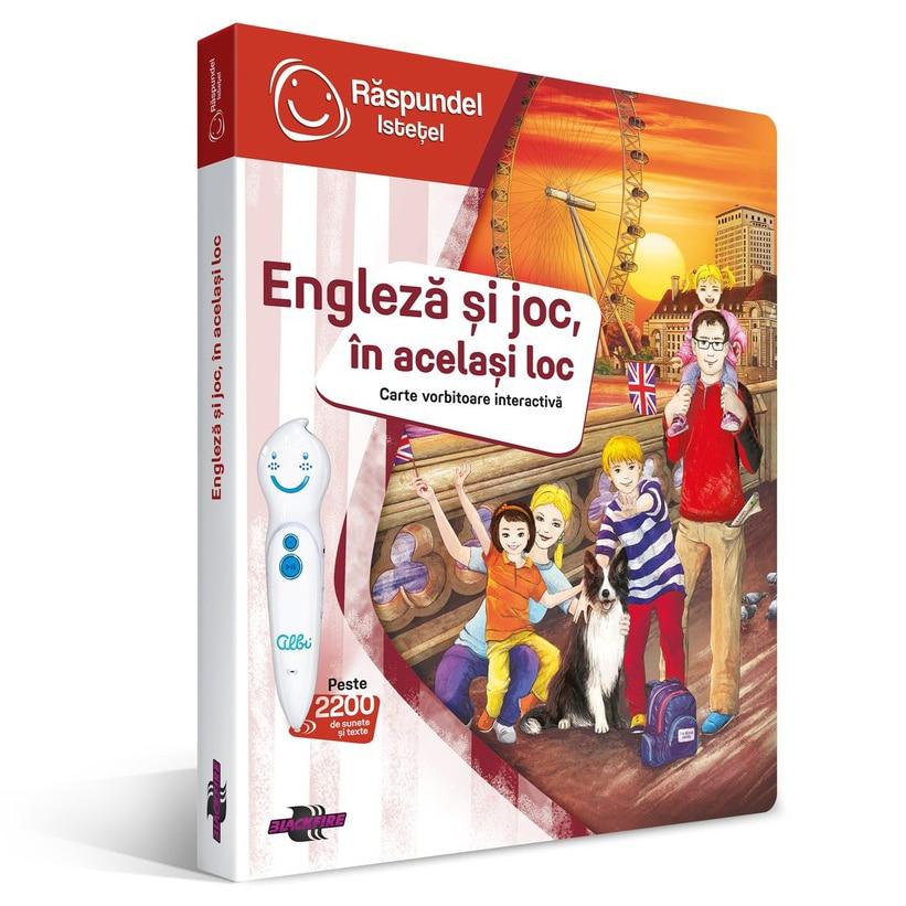 Fotografie Set Raspundel Istetel - Carte si creion, Engleza si joc, in acelasi loc