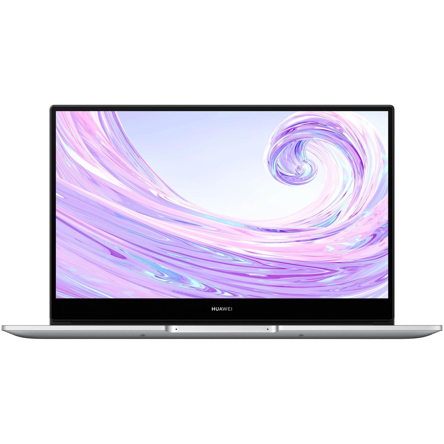 "Fotografie Laptop ultraportabil Huawei MateBook D14 2020 cu procesor AMD Ryzen™ 5 3500U pana la 3.70 GHz, 14"", Full HD, IPS, 8GB, 512GB SSD, Radeon™ Vega 8, Windows 10 Home, Mystic Silver"