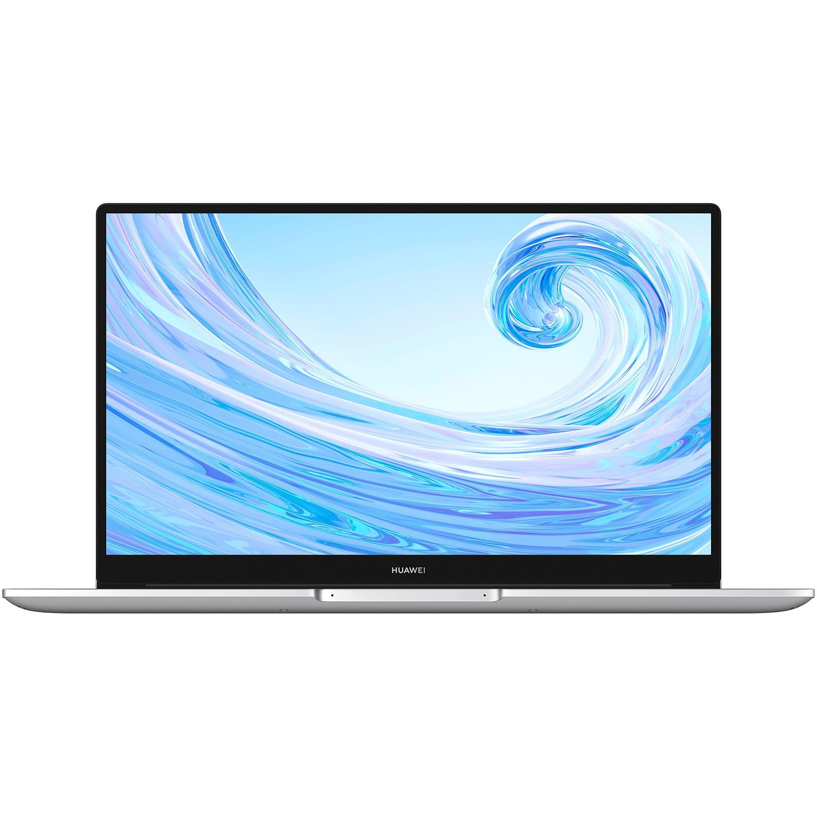 "Fotografie Laptop Huawei MateBook D15 2020 cu procesor AMD Ryzen™ 5 3500U pana la 3.70 GHz, 15.6"", Full HD, IPS, 8GB, 256GB SSD, Radeon™ Vega 8, Windows 10 Home, Mystic Silver"