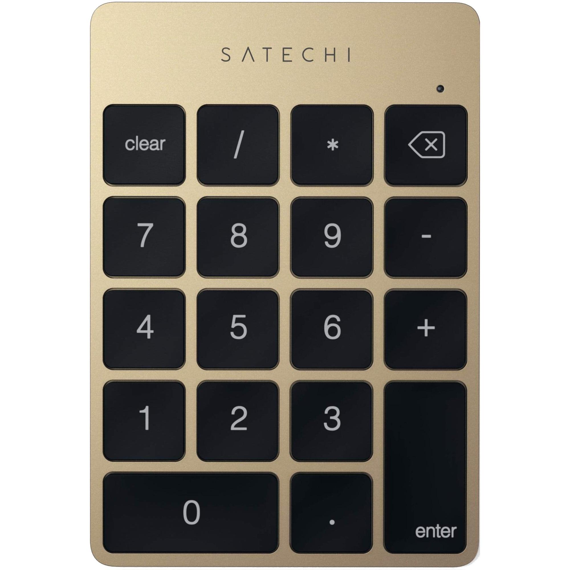 Fotografie Tastatura numerica wireless Satechi Aluminum Slim, Gold