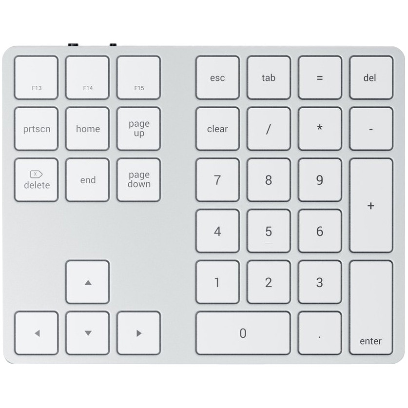 Fotografie Tastatura numerica Satechi Aluminum Bluetooth Extended, Silver