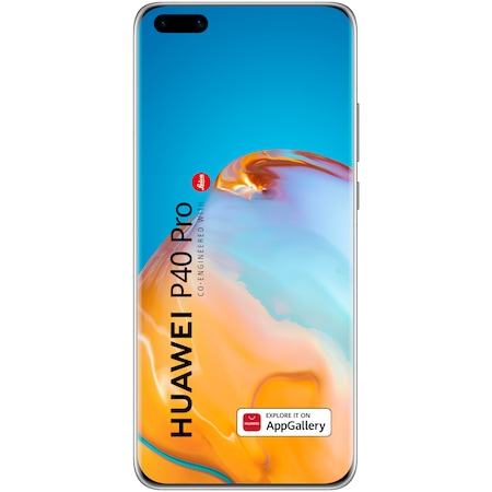Telefon mobil Huawei P40 Pro, Dual SIM, 256GB, 8GB RAM, 5G, Ice White
