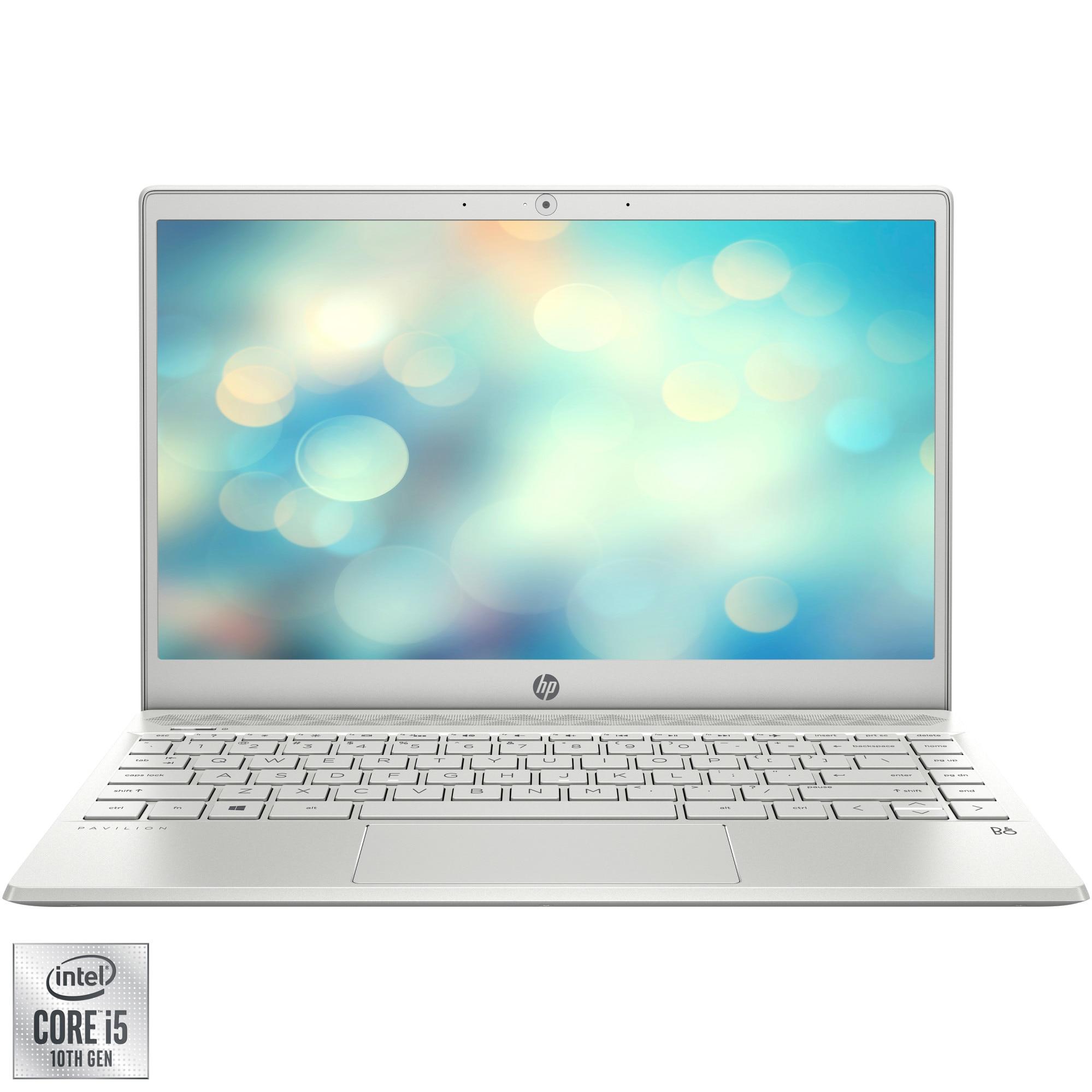 "Fotografie Laptop ultraportabil HP HP Pavilion 13-an1003nq cu procesor Intel® Core™ i5-1035G1 pana la 3.60 GHz Ice Lake, 13.3"", Full HD, 8GB, 256GB SSD, Intel® UHD Graphics, Free DOS, Silver"