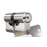 K5 nikkel hengerzárbetét 45-60 +kódkártya (5db kulcs)