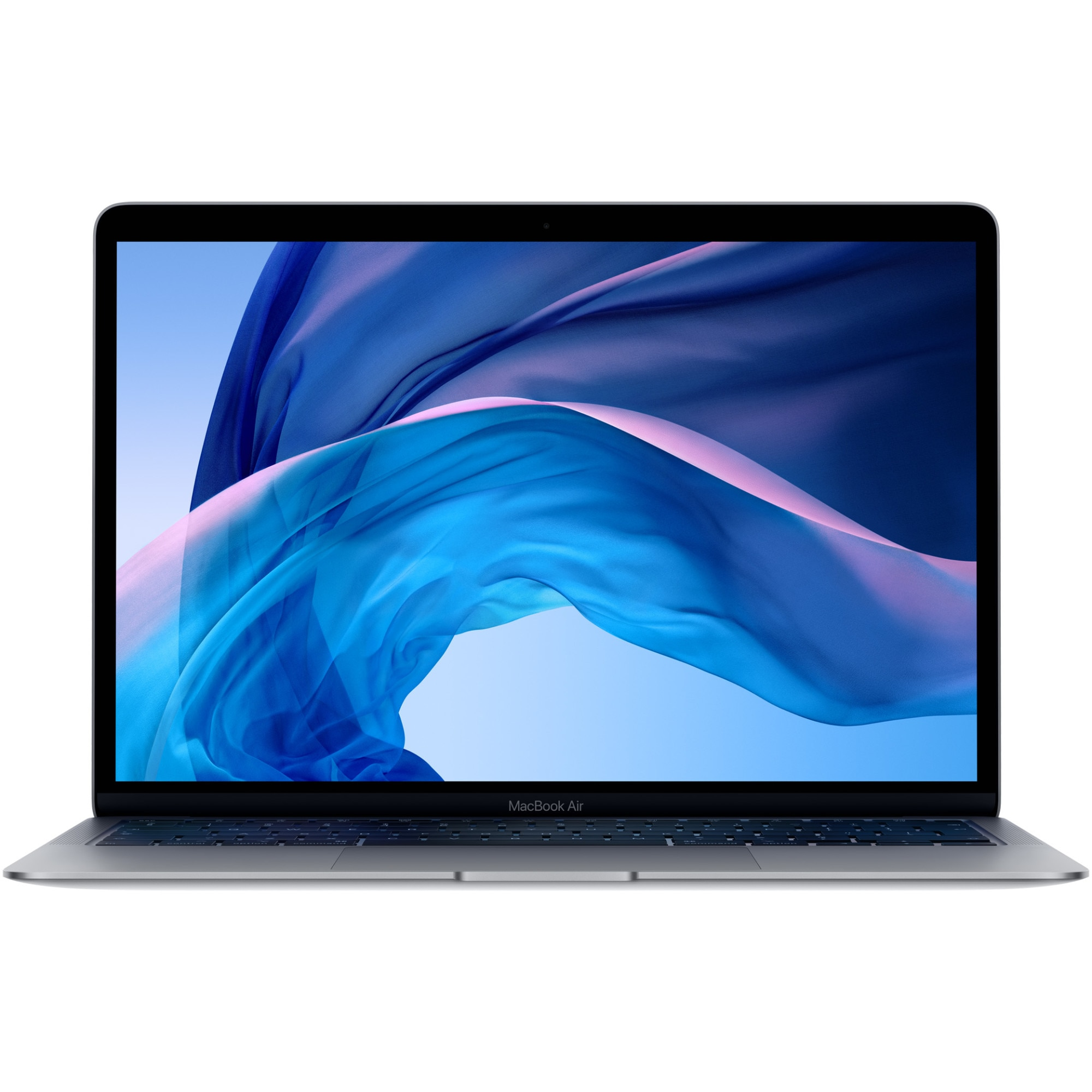 Fotografie Laptop Apple MacBook Air 13 (2020) ecran Retina, procesor Intel® Core™ i3 1.1GHz, 8GB, 256GB SSD, Intel Iris Plus Graphics, Space Grey, INT KB