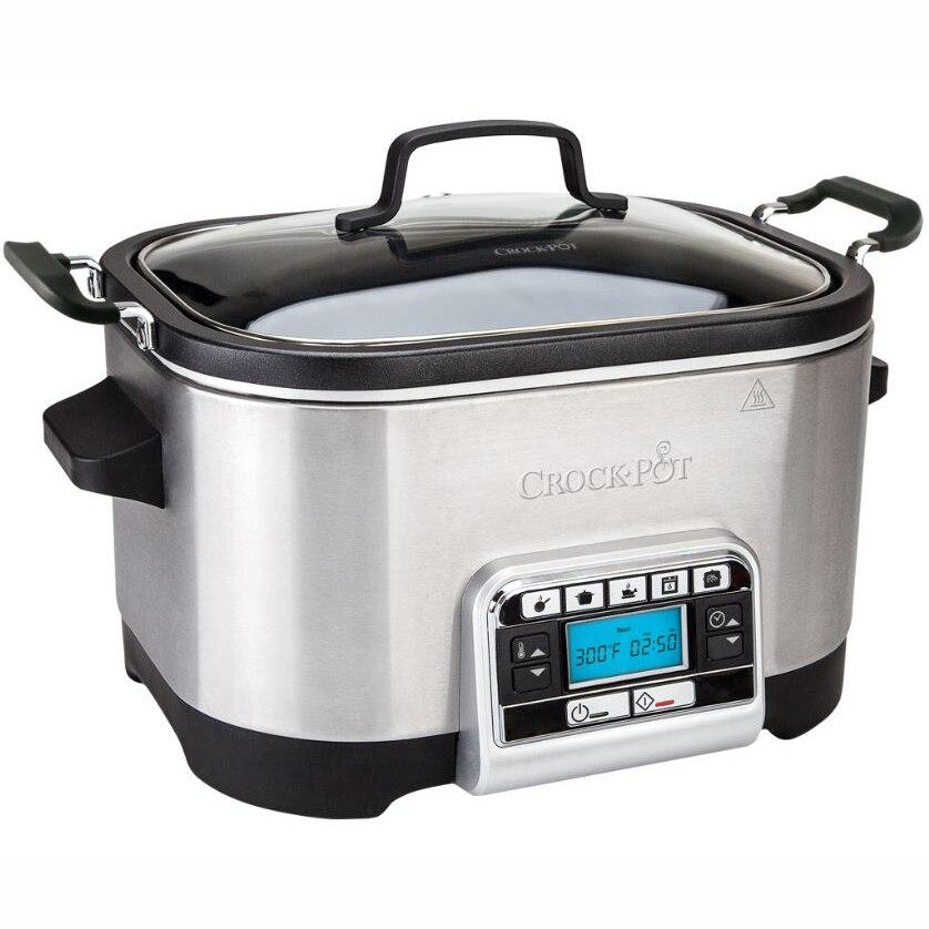 Fotografie Multicooker Crock-Pot, 5.6L, functie slowcooker, functie masina de paine, Inox