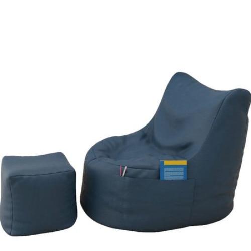 Topcho fotel puff, bőr, kék (FTIK-S09) YqG2pX