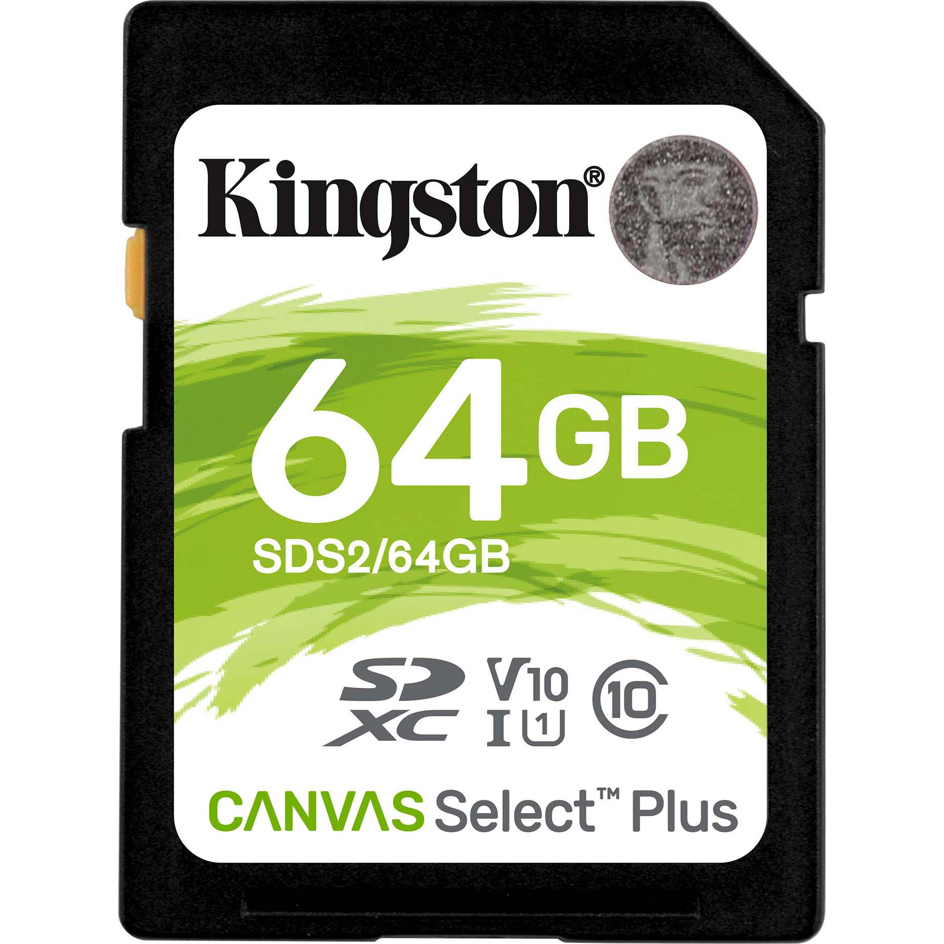 Fotografie Card de memorie Kingston SDXC Canvas Select Plus 100R, 64GB, Class 10, UHS-I U1 V10