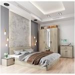 Irim Treff Hálószobabútor, Ágy 160x200 cm, Szekrény, 2xÉjjeliszekrény, Gesztenye