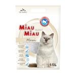 Asternut igienic pentru pisici Miau-Miau, Silicat, 15L