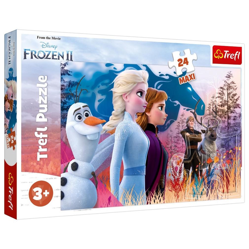 Fotografie Puzzle Maxi Trefl, Disney Frozen II, Calatoria magica, 24 piese