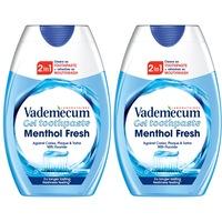 Vademecum 2:1 fogkrém+szájöblítő Menthol Fresh, 2x75 ml