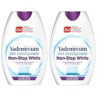 Vademecum 2:1 fogkrém+szájöblítő Non Stop White, 2x75 ml