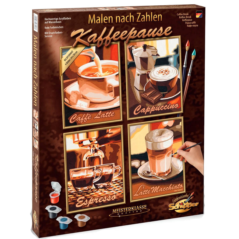 Fotografie Set pictura pe numere Schipper Quattro - Coffee Break, 48x60 cm