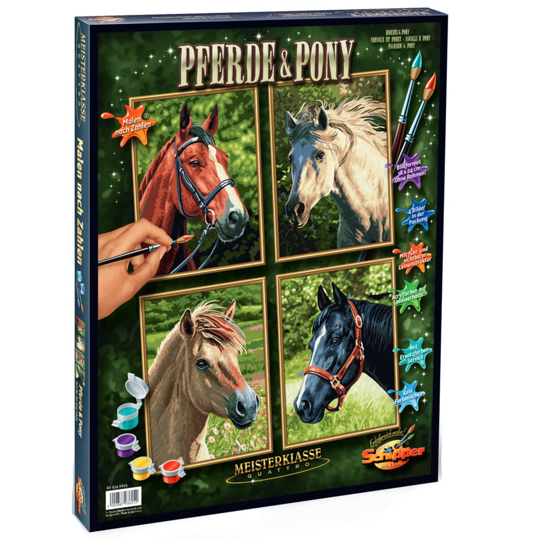 Fotografie Set pictura pe numere Schipper Quattro - Horses + pony, 48x60 cm