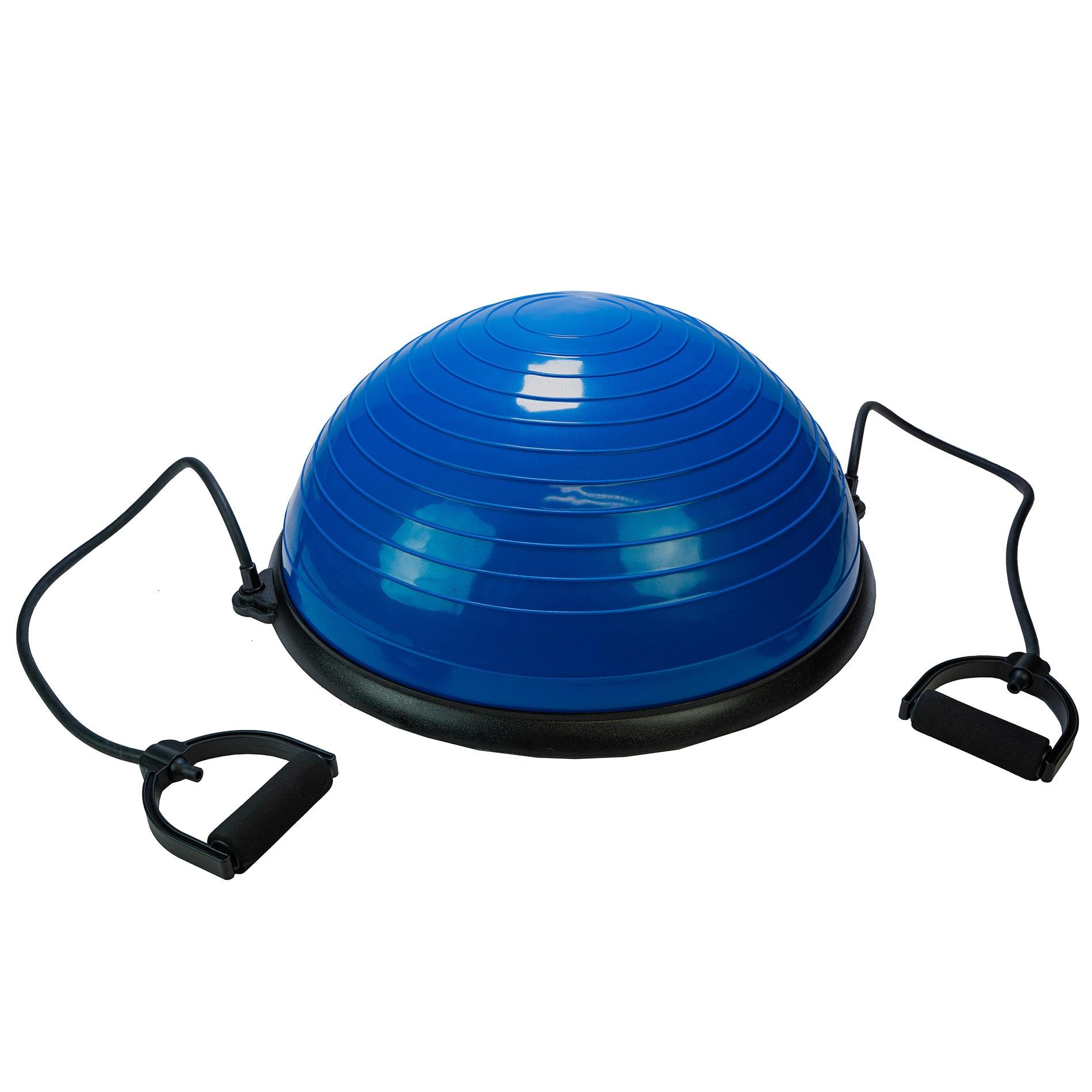 Fotografie Minge echilibru Tunturi Balance Trainer, cu corzi elastice, albastru