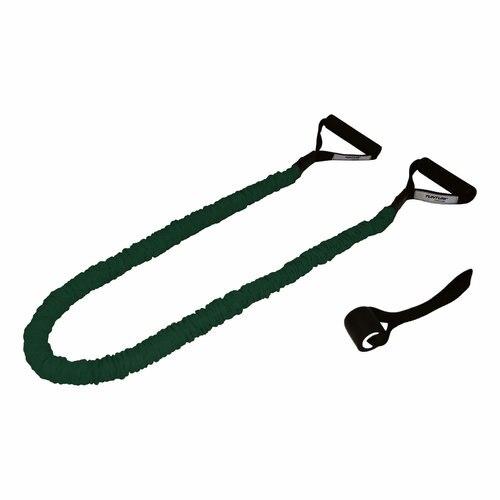 Fotografie Extensor elastic Tunturi, medium, protectie textila, verde