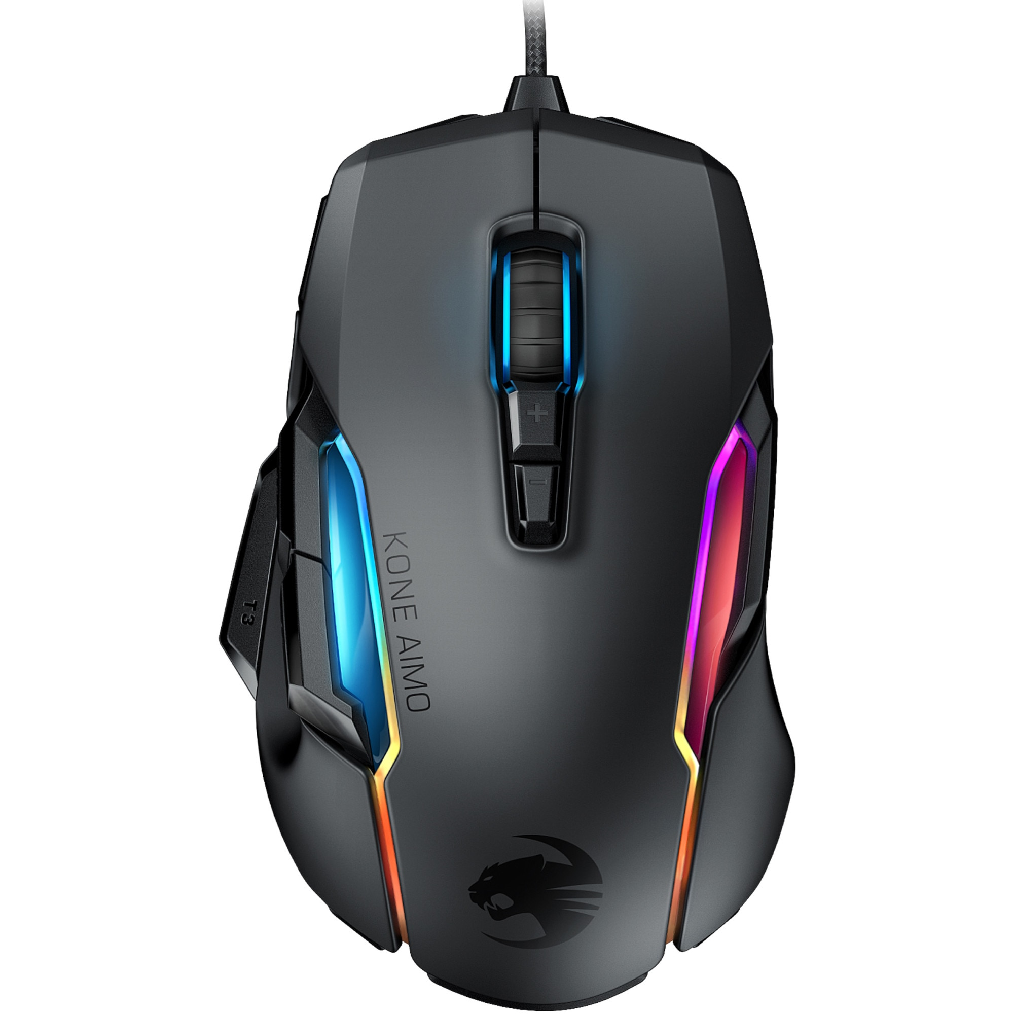 Fotografie Mouse gaming Roccat Kone AIMO - remastered, iluminare RGB 5 zone, Negru