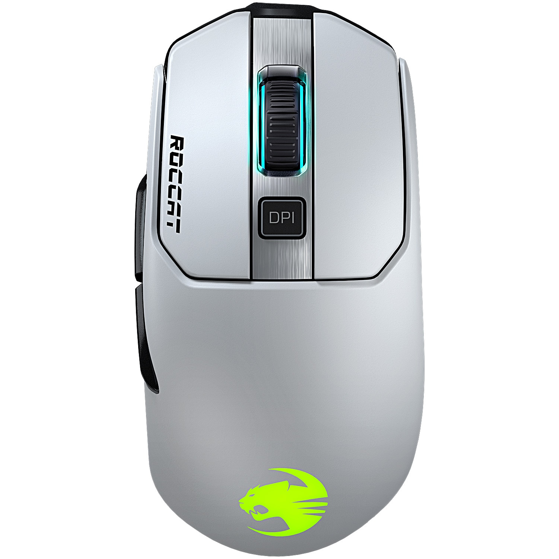 Fotografie Mouse gaming wireless Roccat Kain 202 AIMO, iluminare RGB, Alb