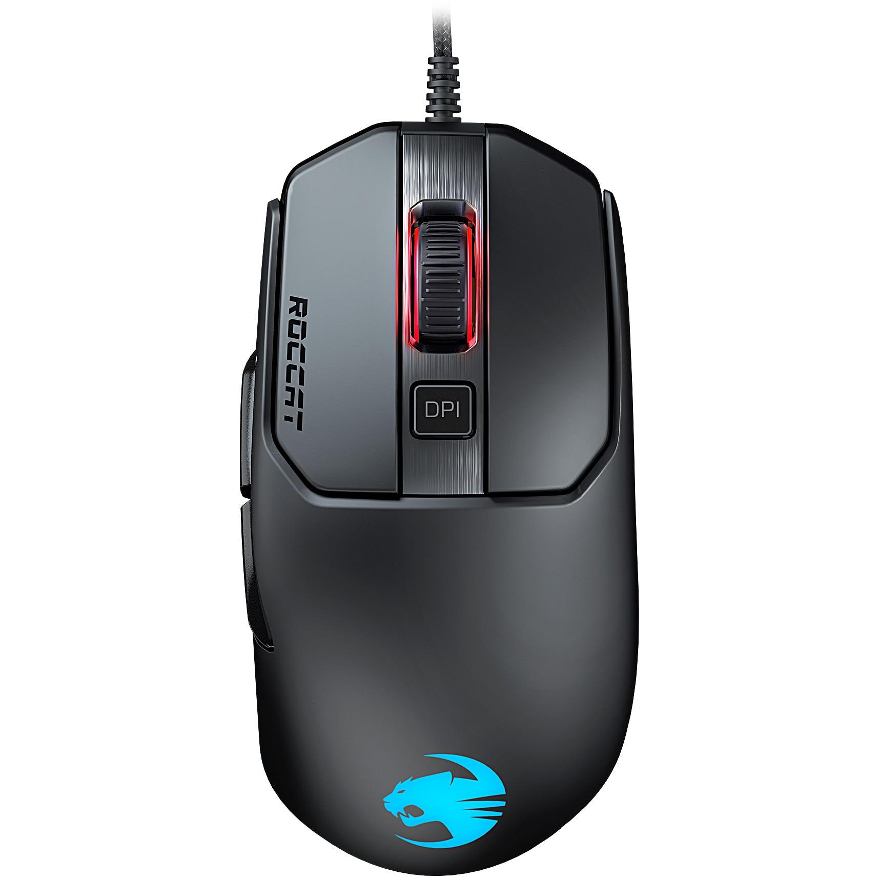 Fotografie Mouse gaming Roccat Kain 120 AIMO, iluminare RGB, Negru