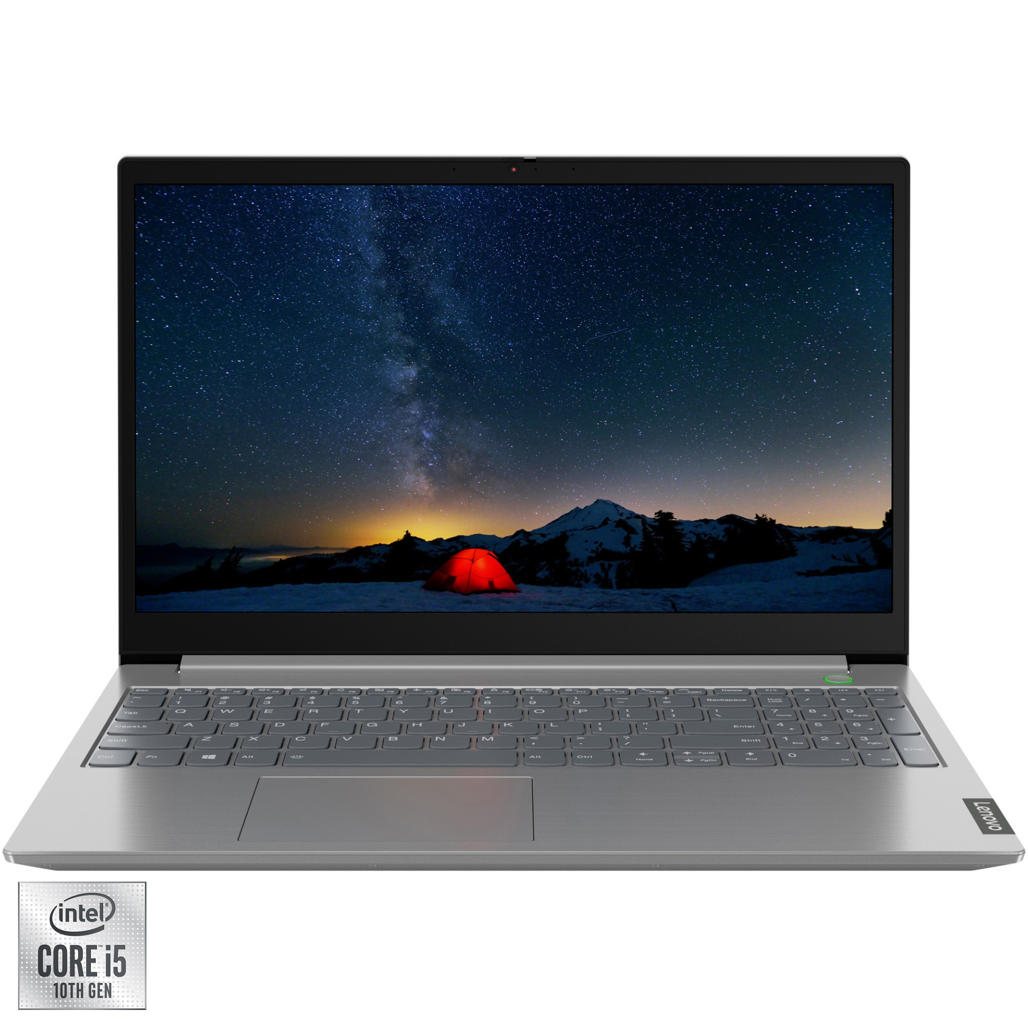"Fotografie Laptop Lenovo ThinkBook 15 IIL cu procesor Intel Core i5-1035G4 pana la 3.70 GHz, 15.6"", Full HD, 16GB, 512GB SSD, AMD Radeon 630 2GB, Free DOS, Mineral Grey"