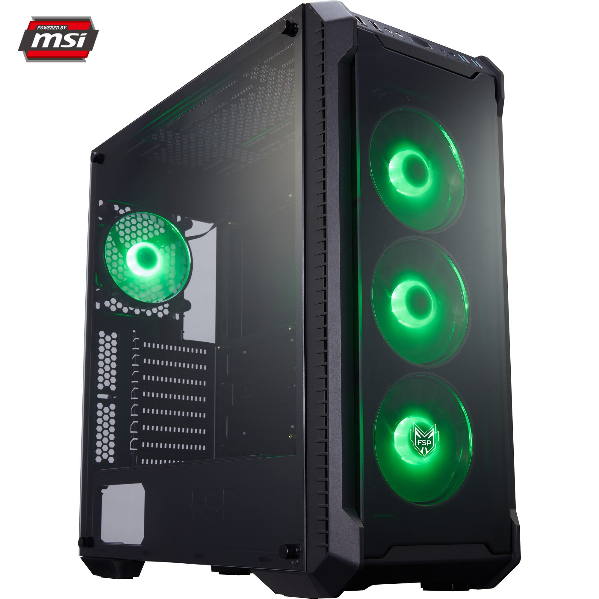Fotografie Sistem Desktop PC Gaming Serioux Powered by MSI cu procesor AMD Ryzen 9 3900X pana la 4.60GHz, 32GB DDR4, 1TB SSD M.2 PCIe, GeForce RTX 2080 Super™ 8GB GDDR6