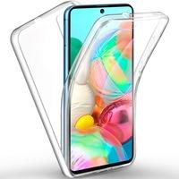 Силиконов калъф Forcell Full Face 360 за Samsung Galaxy A71 , Прозрачен, Blister Pack