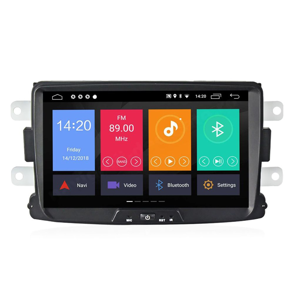 Fotografie Multimedia player auto PNI DAC100 cu Android 10, 2GB DDR3/ROM 32GB, Sistem navigatie pentru Dacia Logan 2, Sandero, Duster, Renault Captur, Touch Screen Bluetooth RDS